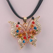 2015 Hot Fashion Lovely joker Wholesaler Butterfly Necklaces & Pendant Long Necklace Chain Choker Bib Statement Necklace(China)
