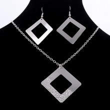 2pcs/lot Factory price top jewelry silver plated drop jewelry sets necklace earring Set free shipping wholesale Price Wedding