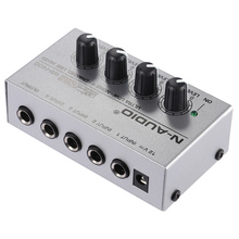 MX400 4 Channels Mono Mixer Ultra-compact Low Noise Mental shell Mono Audio Sound Mixer Mini Amplifier with Power Adapter(China)
