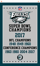Philadelphia Eagles Super Bowl NEW Vertical flag 3x5ft banner 100D Polyester brass grommets custom flag, Free Shipping(China)