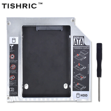 "TISHRIC Universal 2nd HDD Caddy 12.7mm IDE to SATA 3.0 Adapter for 2.5""SSD HDD Case Enclosure for Laptop CD-ROM Optibay(China)"