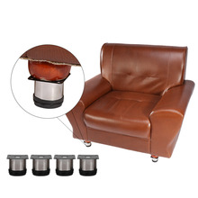 Adjustable Furniture Leg Stainless Steel Height Adjustable Cabinet Legs Round Stand Holder Sofa Feet 4Pcs