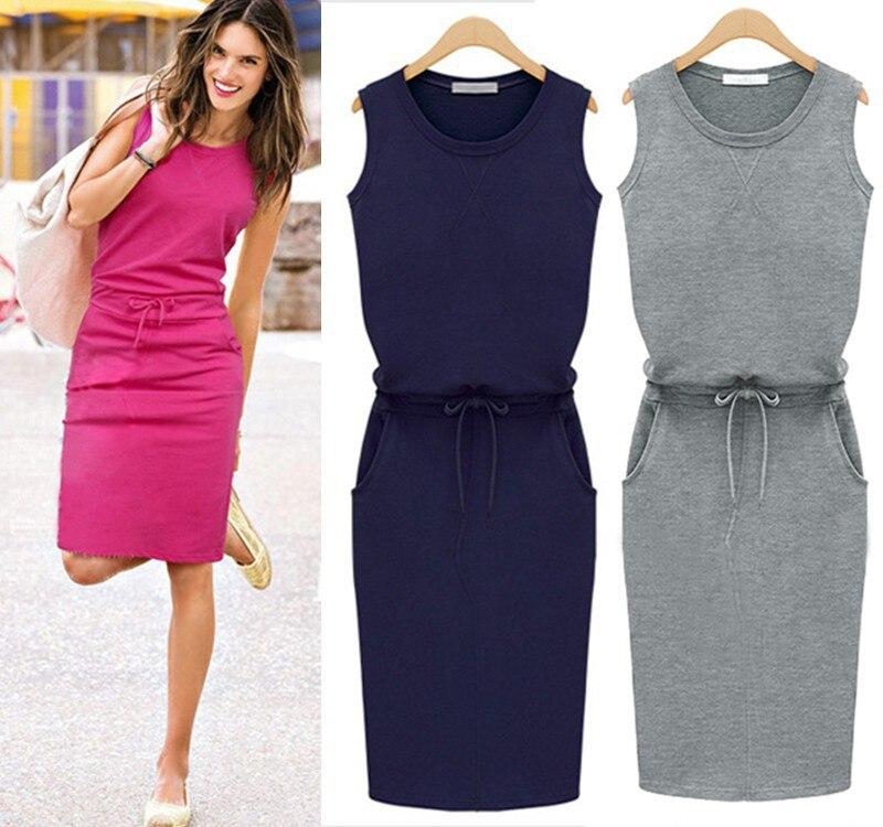 2018-Summer-Dress-Women-O-neck-Sleeveless-Casual-Work-Office-Dresses-Bodycon-Slim-Grey-Pencil-Dresses (1)