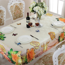 Waterproof Rectangular Tablecloths Colorful Flowers Practical Household Items Oilproof Table Cloth Multiple Sizes ZH-35
