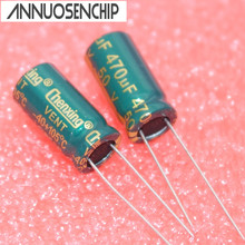 50V 470UF Power Capacitor 10*20mm 470uf 50v electrolytic capacitor Line (50pcs) Free shipping