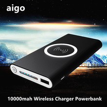 Buy 10000mah Wireless Charger Powerbank External Battery Quick charge Portable Power Bank Mobile phone Charger iPhone for $25.92 in AliExpress store