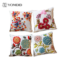 Hot new national style sofa /carcushions Flowers and Fashion Pillows decorate Hand-embroidered almofadas(China)