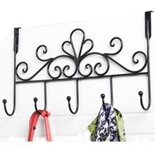 Iron Key Hook Rack Clothing Hooks Rural Wrought  Metal Coat Home Organizer 1Pcs Racks Storage New Holders for Wall Door