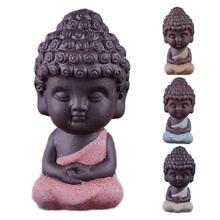 ceramic Buddha statue monk tea pet boutique car accessories auspicious ornaments sand flower garden decoration A20(China)