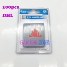 100PCS DHL SD Card Reader Memory Card Reader for WII Gamecube GC SD Flash Memory Card Adapter Game