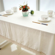 Brand  Linen Cotton Tablecloth Decorative Rectangle Round Solid White Color Tablecloth for Home Weeding Party Table Covers T39