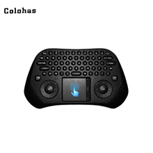 Buy 2.4GHz Wireless Fly Air Mouse QWERTY Keyboard Smart Touchpad Computer Android TV Box Mini PC Projector for $20.49 in AliExpress store