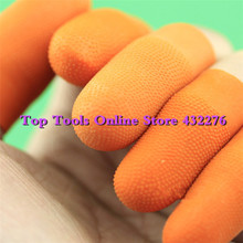 100pcs/lot L size Concentrated natural latex roll non-slip antistatic finger cots counting Repeated use dust free protect gloves