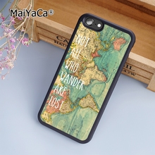 MaiYaCa World Map Not All Who fashion soft mobile cell Phone Case Cover For iPhone 7 Plus Custom DIY cases luxury shell(China)