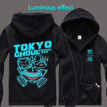 Autumn Tokyo Ghoul New Style Hoodies Men Zipper Hip Hop Black/White Cotton  Casual Womens Men Winter Jackets And Coats Plus Size