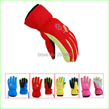 SG20K Winter Children's Waterproof Snow Gloves Outdoor Kid's Skiing gloves Snowboarding Gloves For 4~7 Years Children(China)