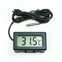 2015 New New Mini Aquarium LCD Display Digital Thermometer Fish Tank Water Household Refrigerstor Thermometers 1OC8 5GBA