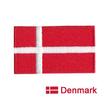 New Products Danish Flag Logo Apparel Fabric Badge Pants or Bags Decal Decorative Patchwork Embroidery Iron-On(China)