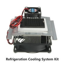TEC1-12705 Thermoelectric Peltier Refrigeration Cooling System Kit Cooler Fan 12V DC 6A Free Shipping
