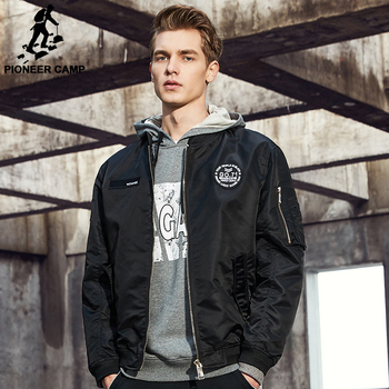 Pioneer Camp New Spring jacket coat men brand clothing fashion male bomber jacket top quality outwear black army green AJK707001