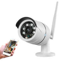 HD ourdoor waterproof wifi 1.0 Mega wireless IP Network Camera 720P Onvif support memory card(China)