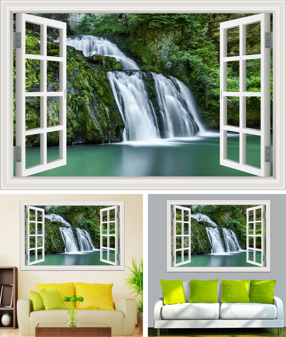 HTB1St39hPnD8KJjSspbq6zbEXXa9 - Waterfall 3D Window View Wallpaper Nature Landscape Wall Decals for Living Room