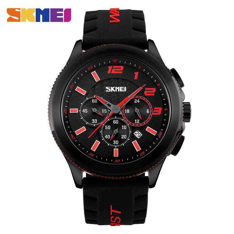 Skmei 9136 New Men Quartz Watch Multifunction Fashion Sport Wristwatches Silicone Strap Stopwatch Date relogio masculino <br><br>Aliexpress