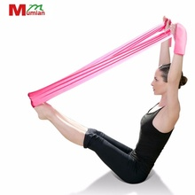1.2M Fitness Equipment Elastic Exercise Resistance Bands Workout Pull Stretch Band Sports Gym Yoga Pilates Bodybuilding Tools(China)