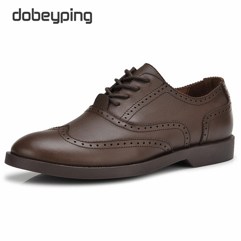 New British Style Brand Men Oxfords Shoes Genuine Leather Flats Male Shoes Dress Business Shoes Pointed Toe Carving Shoes Man<br>