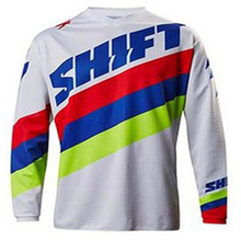 Brand New Men's Moto GP Mountain Bike Motocross Jersey BMX DH MTB T Shirt Clothes Blue RED White ATV Cross-Country sport wear XL(China)