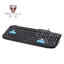 MOTOSPEED Professional QWERTY Gaming Keyboard Durable Black USB Wired Game Keyboard for Notebook PC Computer Peripherals