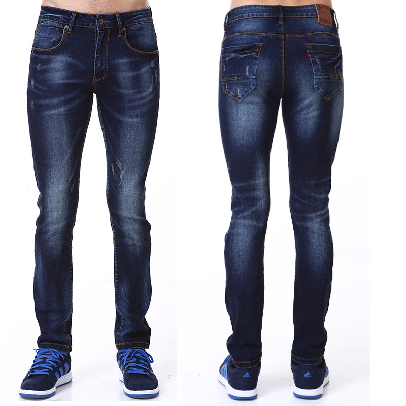 Brand Men Jeans Blue Stretch Denim Slim Fit Men Jean for Man Fashion Pants Trousers Jeans Mens Casual Designer Denim Pants Одежда и ак�е��уары<br><br><br>Aliexpress