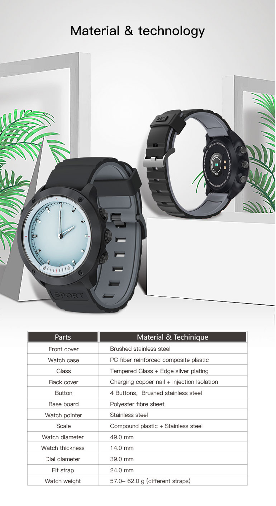 COLMI M5 Transparent Screen Smart Watch Men IP68 Waterproof Heart Rate Monitor Stainless Steel Clock Smartwatch For IOS Android 15