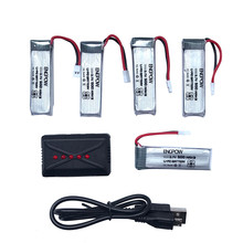 High quality  Li-Polymer Battery  3.7V 500mAh Li-Polymer Battery +A Five Charger For JJRC H37 RC Quadcopter Best seller