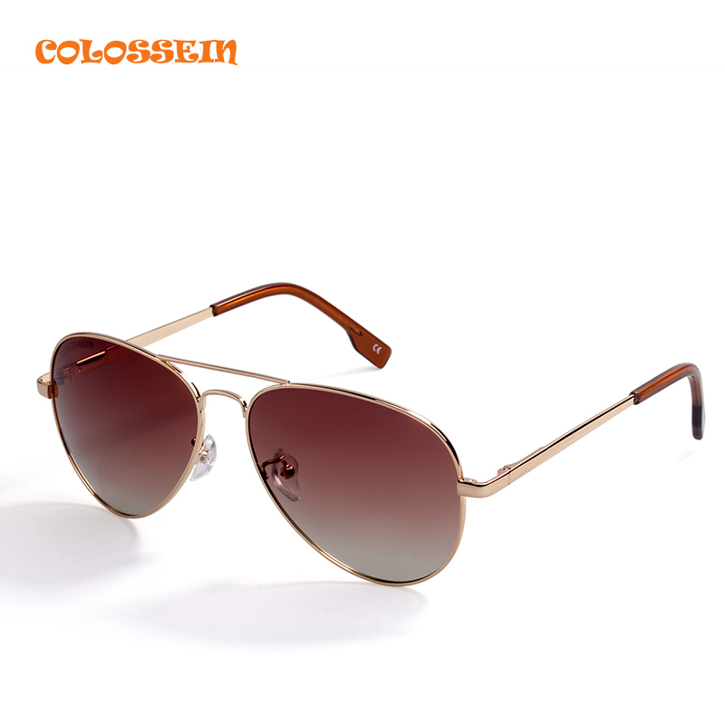 COLOSSEIN BLUE LABEL Pilot Style Sunglasses Men Vintage Oval Lens Classic Brown For Outdoor Driving Hot Sale Adult Glasses<br><br>Aliexpress