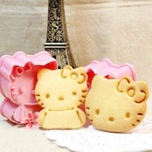 2pcs New Ciq Soap Mold Hello Kitty Shape Mold Sugar Arts Set Fondant Cake Decorating Tools/biscuit Cookie Cutters