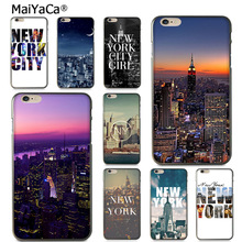 MaiYaCa I LOVE New York Times Square Diy Cell Phone Protective Case for iPhone 6S 6plus 7 7plus 8 8Plus X 5 5S case(China)