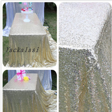 Wedding Decoration Sequined Table Cloth Rose Gold Pink Gold Different Size Available