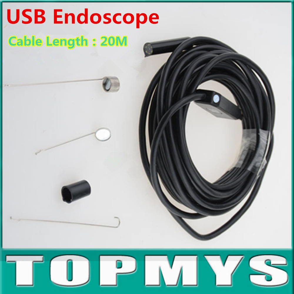 High Precision USB Camera 2MP 20M cable 720P pinhole camera with 6 LED 9mm Lens USB Endoscope IC20H Waterproof IP66 snake camera<br>