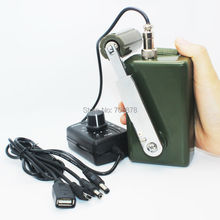 Hand Crank Generator Emergency Dynamo 30W/0-28V Outdoor Notebook Phone Charger With DC-DC Connector(China)