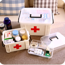 Urijk Family Home Portable Medicine Chest Cabinet Health Care Plastic Drug First Aid Kit Box Storage Box Chest of Drawers(China)