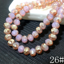 Wholesale 100pcs Rondelle Faceted Crystal Glass jewelry loose Spacer Beads 6x4mm HA26(China)