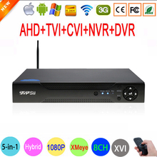 1080P 2mp CCTV Camera 1080N 8 Channel 8CH Surveillance Video Recorder Hybrid 6 in 1 WIFI XVI NVR TVI CVI AHD DVR Free Shipping(China)
