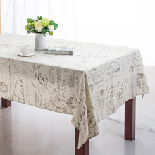 Linen Table Cloth European style Words Print High Quality Tablecloth Table Cover manteles para mesa Free Shipping