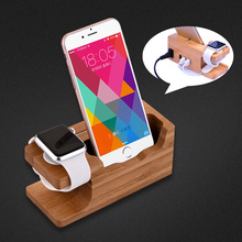LEPHEE for Apple Watch Charger Stand Charging Docking Station Phone Bamboo Holder for iPhone 8 Plus X Xiaomi Mi A1 Mix 2 Note 3(China)