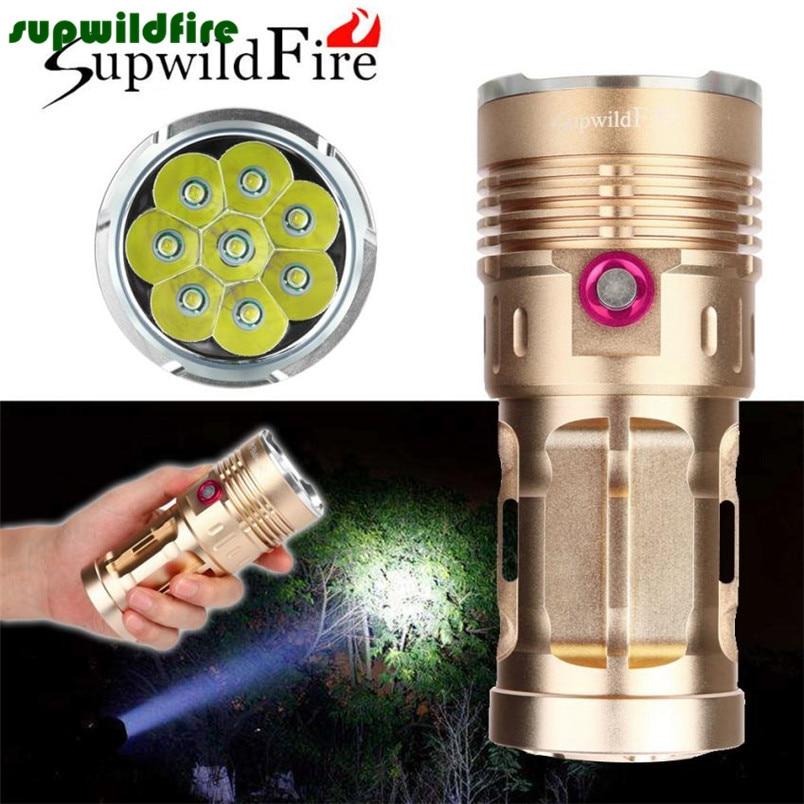 30000LM 8 x XM-L T6 LED Flashlight Torch 4 x 18650 Hunting Lamp#NO06<br>