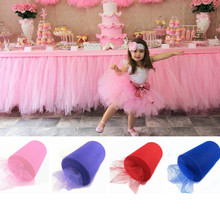 Buy 90 m/lot 15cm Width Tulle Roll Fabric Spool Tutu Party Gift Wrap Wedding Birthday Decoration Crafts Decorative Supplies 9Z for $7.91 in AliExpress store