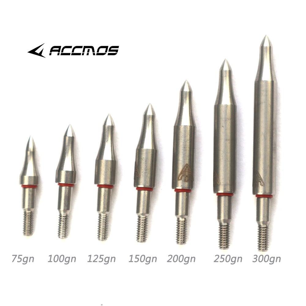 12Pcs 100Grain Insert Archery Broadheads SS Steel Arrow HeadsTarget Field Points