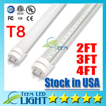 Stock in USA + CE RoHS UL + 4ft 22W 3ft 2ft T8 Led Tube Light 2400lm 85-265V Led lighting Fluorescent Tube Lamp 1.2m LED tubes(China)