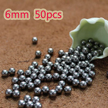 50pcs the projectile 6mm Steel Balls Bow food Professional slingshot ammo outdoor Slingshot bullets used for hunting